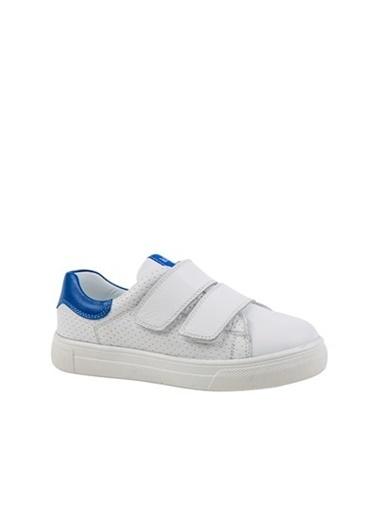 Kids A More Grace Çift Cırtlı Deri Erkek Çocuk Sneaker  Beyaz